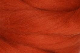 Wool top 26-28 µm, rip orange, code S11, 100 g