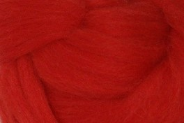 Wool top 26-28 µm, red, code S12, 100 g