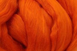 Australijos Merino sluoksna su Mulberry šilku, oranžinė, kodas MTMS12, 100 g
