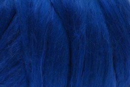 Australian Merino with Mulberry silk top, royal blue, code MTMS15, 100 g