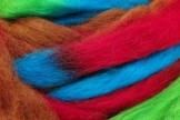 Wool top 26-28 µm, red melange, code SP2, 100 g