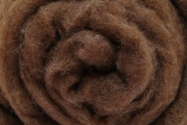 Austrian Tirol mountain carded wool, naturally brown, code KN3, 100 g
