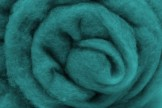 Austrian Tirol mountain carded wool, turquoise, code TKD126, 100 g