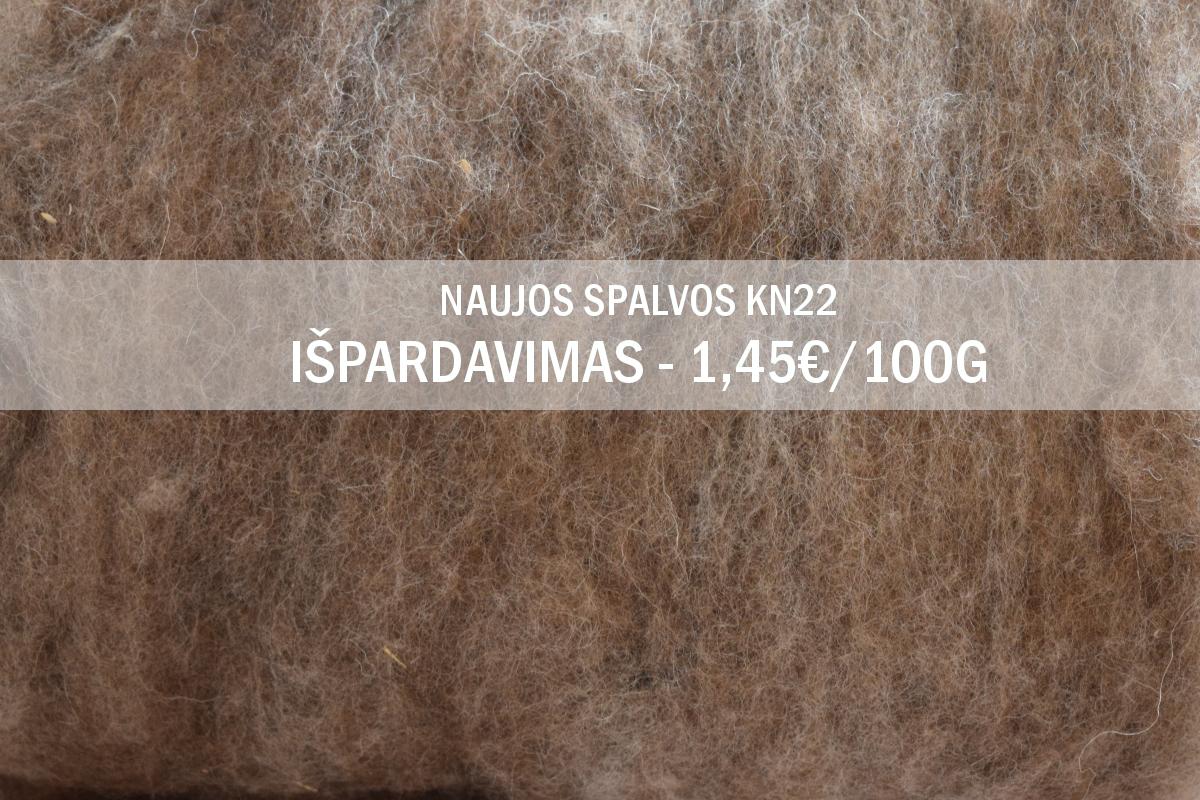 Išpardavimas - Nauja Tirolio karšinio spalva KN22 tik po 1,45€ už 100 g