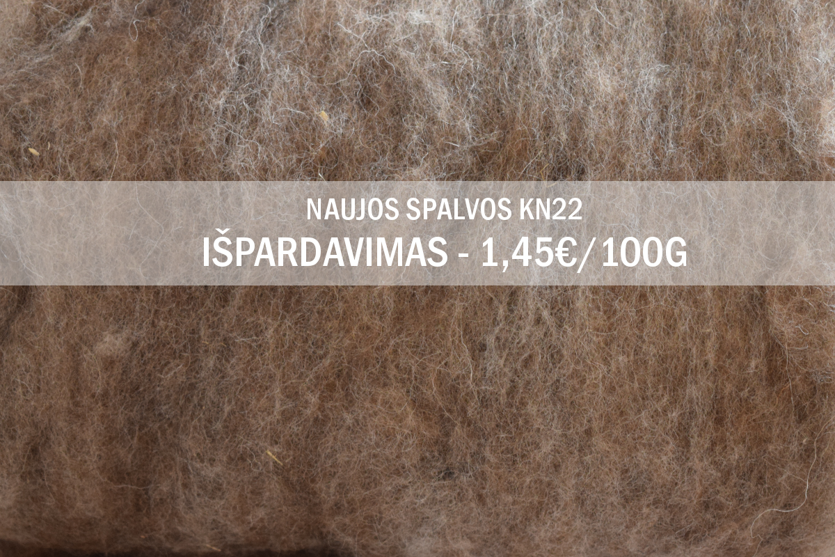 On Sale! New color of natural Tyrolean carded wool KN 22- 1,45€/100 g