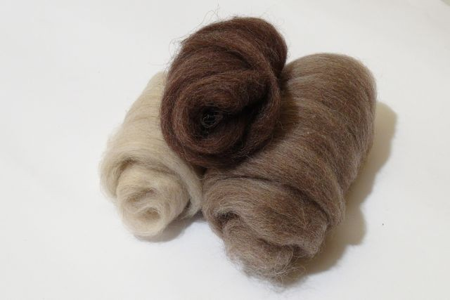 Brazilian natural tops - dark, light brown, beige